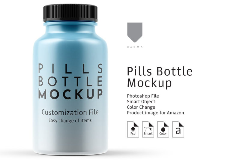 Suppelement Bottle Mockup