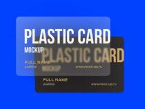Plastic Visiting card mockup